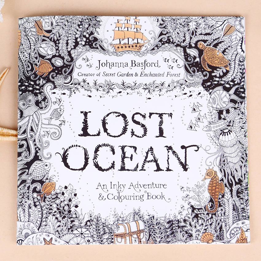 Mega Sale D760 1 Pc 24 Pages English Edition Lost Ocean Inky