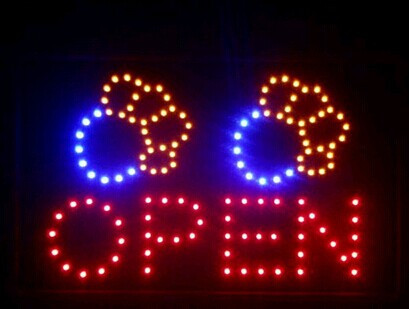2017 Direct Selling 10x19 Inch Semi-outdoor Ultra Bright Pet Shop signage led sign