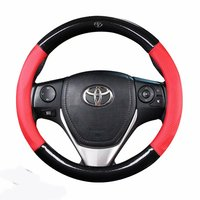 Car Steering wheels Cover 37 38cm 15 for Toyota 86 Agya Allion Auris Avalon Aygo Vios Vitz Yaris Mark X Hilux Alphard Avanza