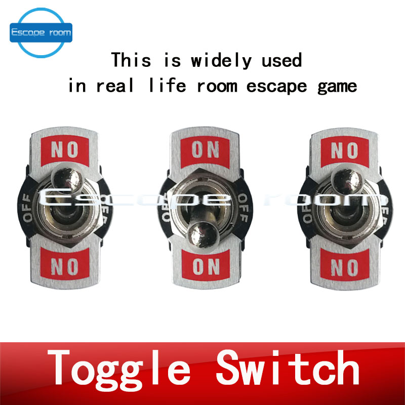 live room escape prop hot new Takagism game prop shift the toggle switch in the right position to escape from the chamber room