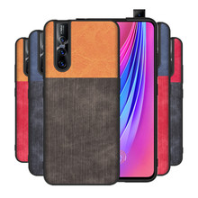 For Vivo V15 Pro Case Fiber Silicone TPU + PC Shockproof Anti-knock Back Cover Coque vivo case V 15 cover Fundas