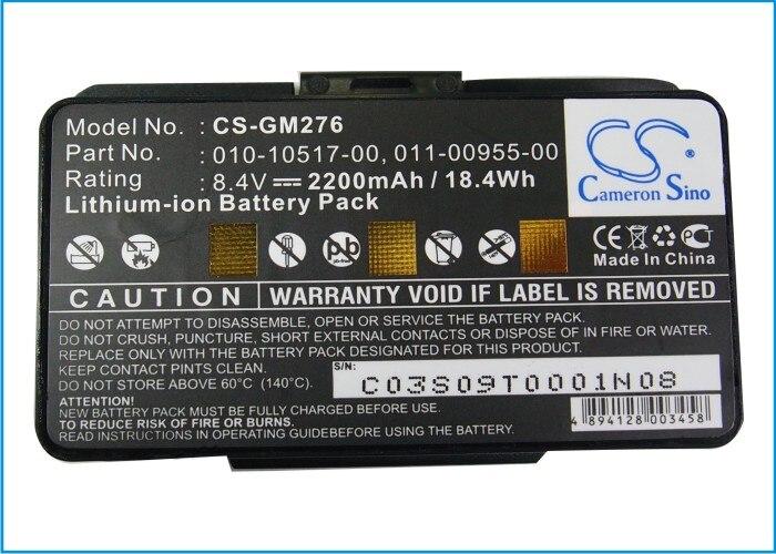Cameron Sino 2200 mAh batterie pour Garmin GPSMAP 276, 276c, 296, 376C, 378, 478, 495, EGM478, 010-00543-00, 100054300Cameron Sino 2200 mAh batterie pour Garmin GPSMAP 276, 276c, 296, 376C, 378, 478, 495, EGM478, 010-00543-00, 100054300