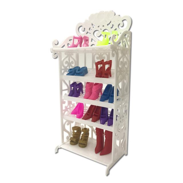 Doll House Environmental Plastic Mini Shoes Rack