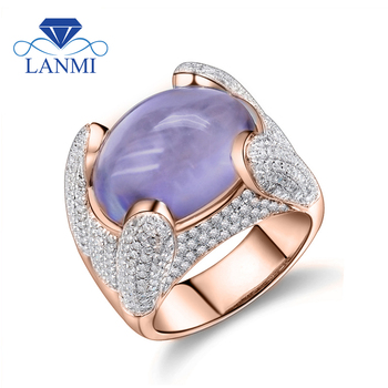 Vintage Solid 14K Rose Gold Natural Oval 12x15mm Purple Amethyst Ring, 585 Gold Diamond Natural Amethyst Ring Gemstone Jewelry