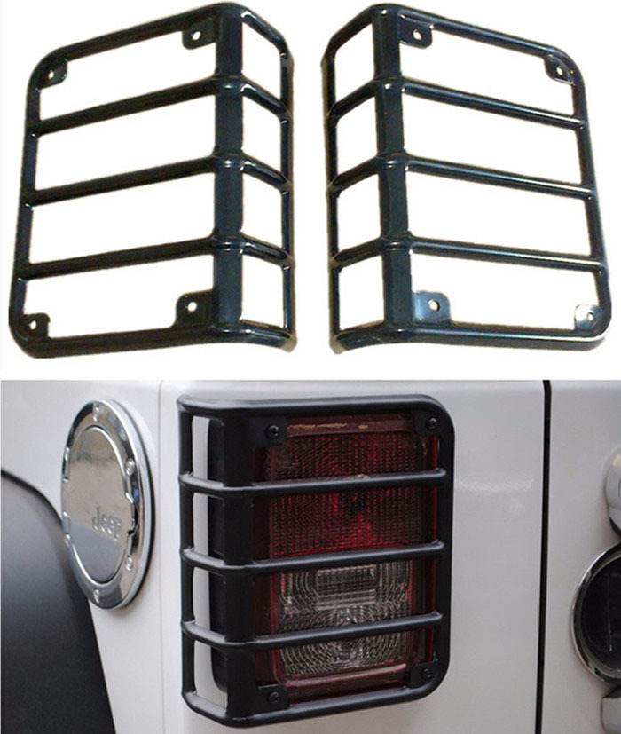 New Arrival Steel Black Taillight Protector Guards Cover Rear Light