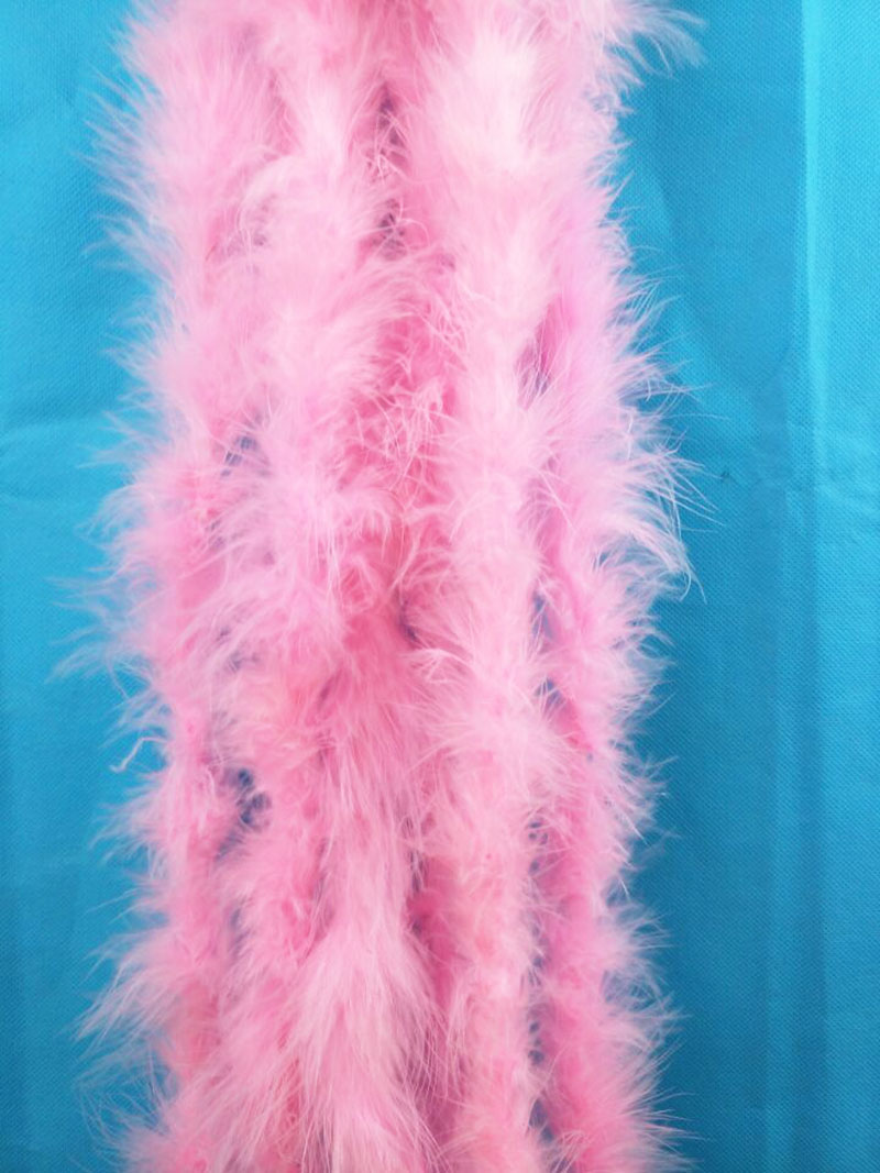10pcs Pink color dyed Marabou Feather Boas 2 meter long each pc 18gram/pc for wedding decorations EMS Free shipping