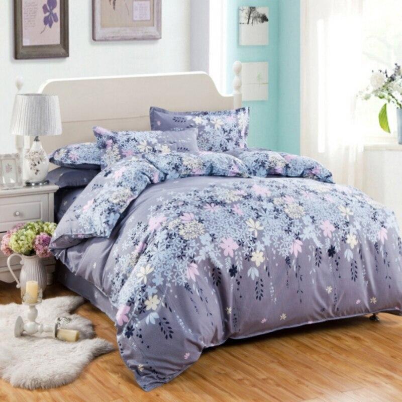 New Cotton Bed Sheets Set Floral Dream Bedding Set King Size Striped Bedspread Color Plaid Comfortable