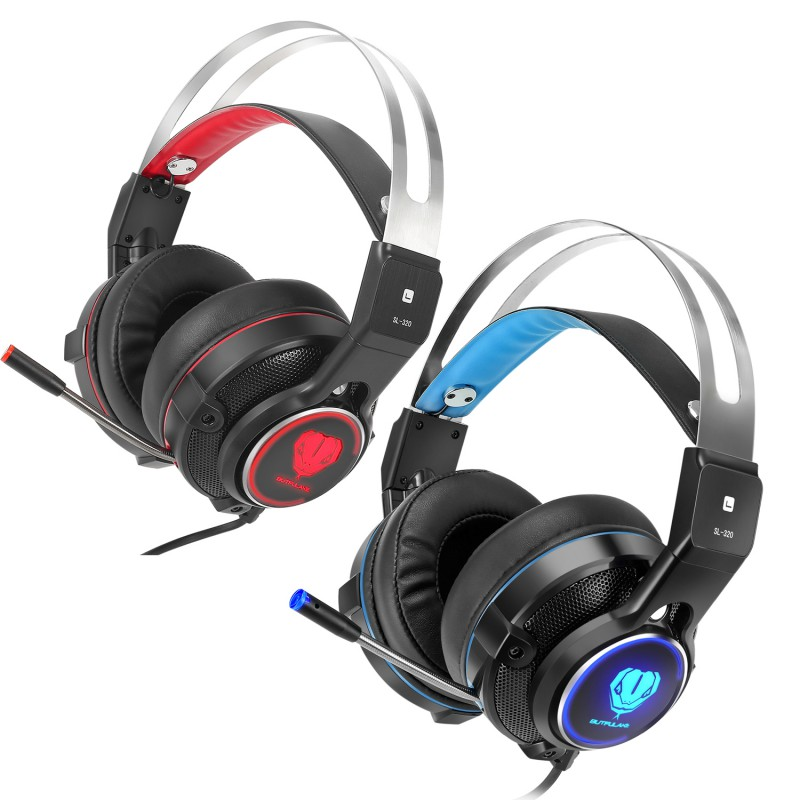 Gaming Headset Computer Game Headphones with microphone LED Light for computer PC Gamer for LOL/DOTA 2/Steam K5 kz headset storage box suitable for original headphones as gift to the customer