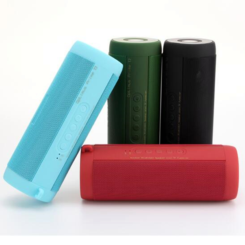 Big Power Portable wireless Bluetooth Speaker Amplifier Stereo Outdoor waterproof mini HIFI Speakers altavoz with FM Radio T2
