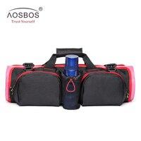 Aosbos Multifunctional Yoga Bag For Shoulder Messenger Sport Bag For Women Fitness Large Capacity Waterproof Yoga