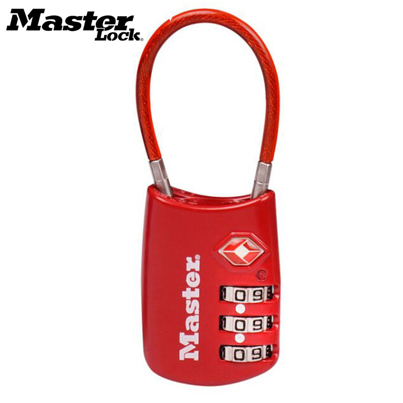 Master Lock Resettable 3 Digit <font><b>TSA</b></font> Locks Smart Combination Lock For Travel Luggage Suitcase Code Padlock Customs Password Lock image