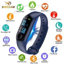 BINSSAW 2019 спортивные часы Смарт-часы Для мужчин Для женщин часы Bluetooth Камера сердечного ритма крови Давление Sleep Monitor педометр