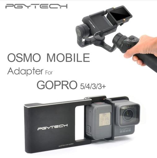 Gopro Hero 6 5 4 3+ 액세서리 DJI 오스모 모바일 짐벌 용 어댑터 스위치 장착 플레이트 카메라 핸드 헬드 폰 무인 항공기 부품