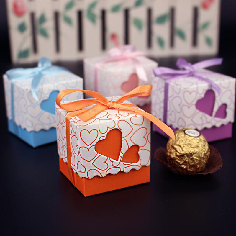 10 pcs love heart shaped wedding decoration favor candy for Wedding gift decoration