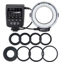 ES FC100 Macro Ring Light Flash Comes 8 Adapter Rings for Canon Nikon Sony Fujifilm Olympus Panasonic Hot Shoe Digital Cameras
