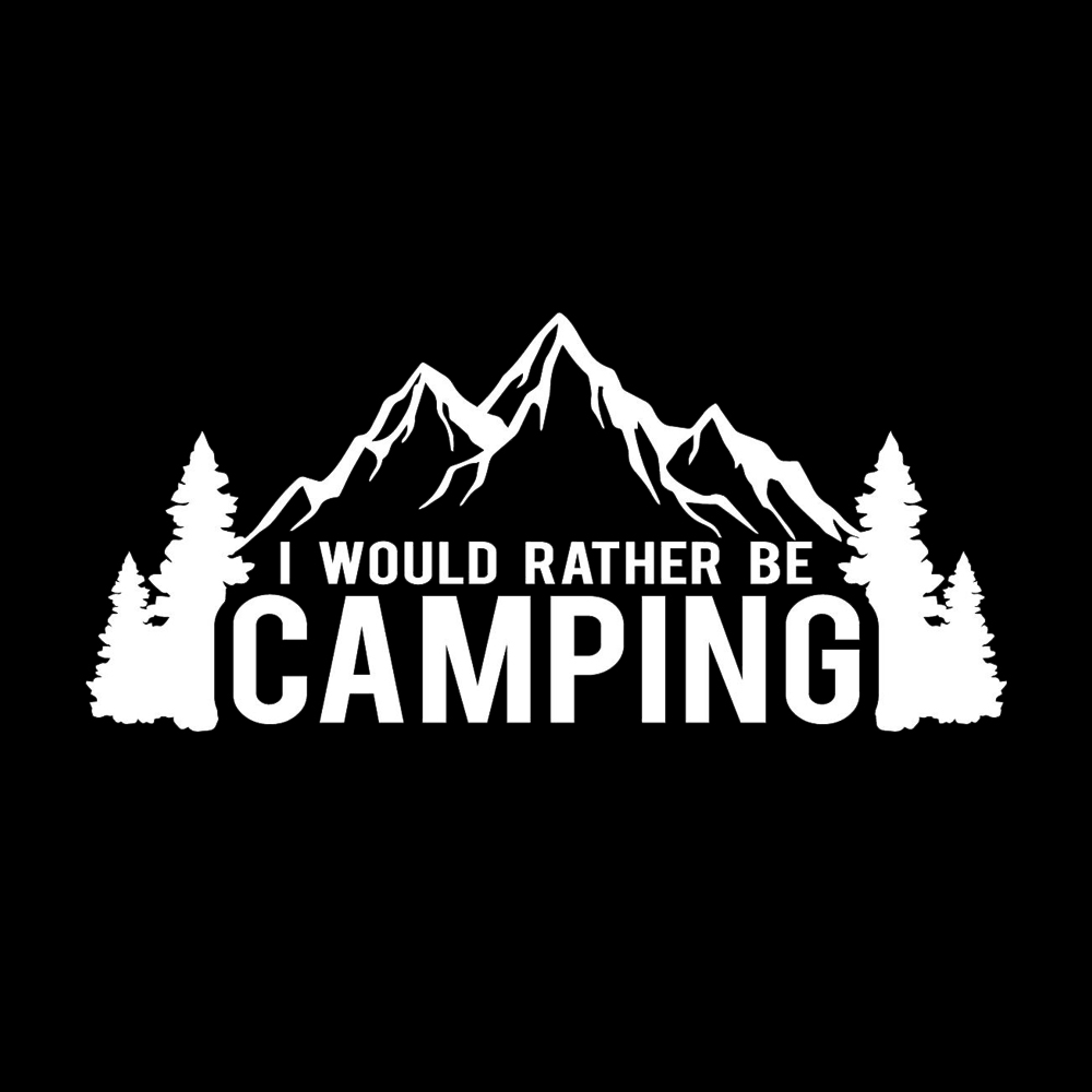 156 8cm i would rather be camping funny decal window bumper sticker car nature outdoor travel car sticker in car stickers from automobiles motorcycles on