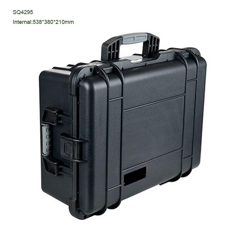 SQ4295 Internal 538*380*210mm Black Waterproof Hard Plastic Transportion Case With Full Foam