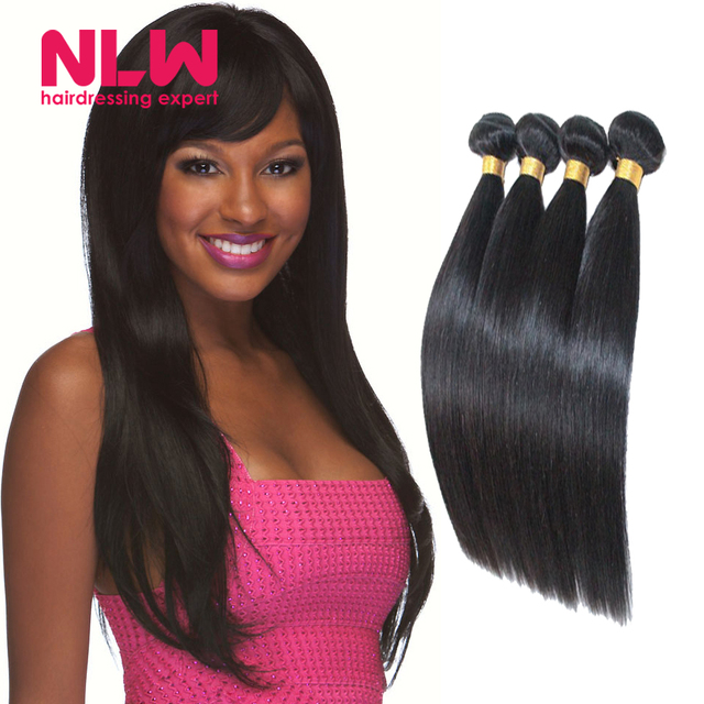 Human Hair Straight 4 Bundles 8a Top Quality Malaysia Remy Straight