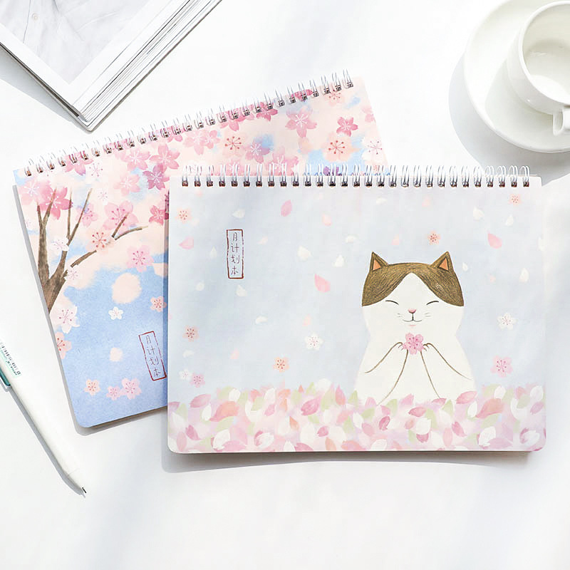 Planner Coil Notebook Cartoon Weekly Agenda Filofax Cute Kawaii for Kids Gift Lovely Stationery Diary Sketchbook cute colorful floral design portable daily 2018 planner lovely doll girl scheduler 256p 11 8 15 4 2 3cm agenda gift