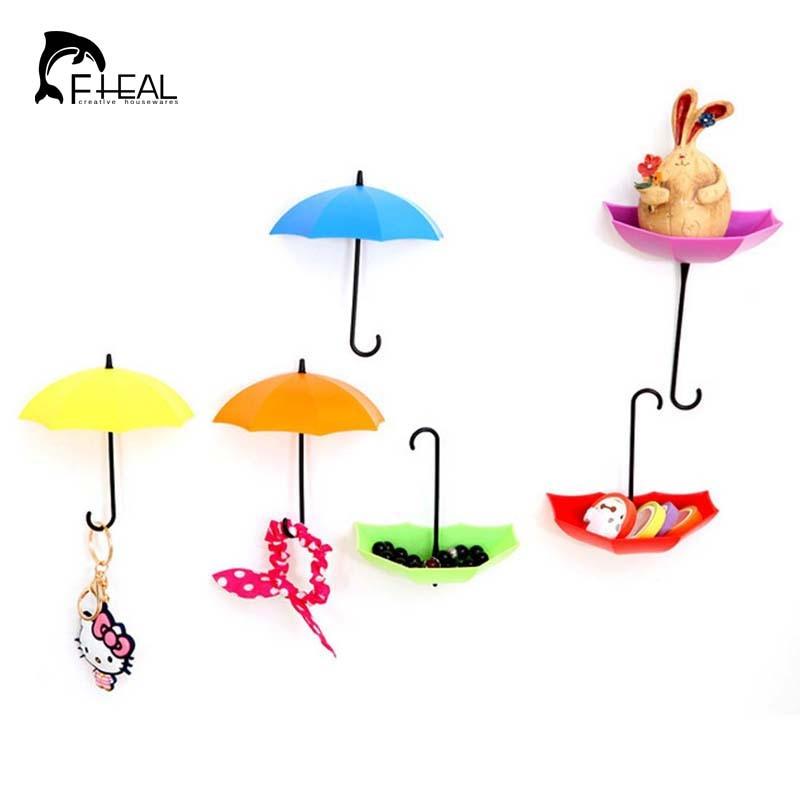 FHEAL 3db Umbrella alakú horog Öntapadó horgok Konyha / - Szervezés és tárolás