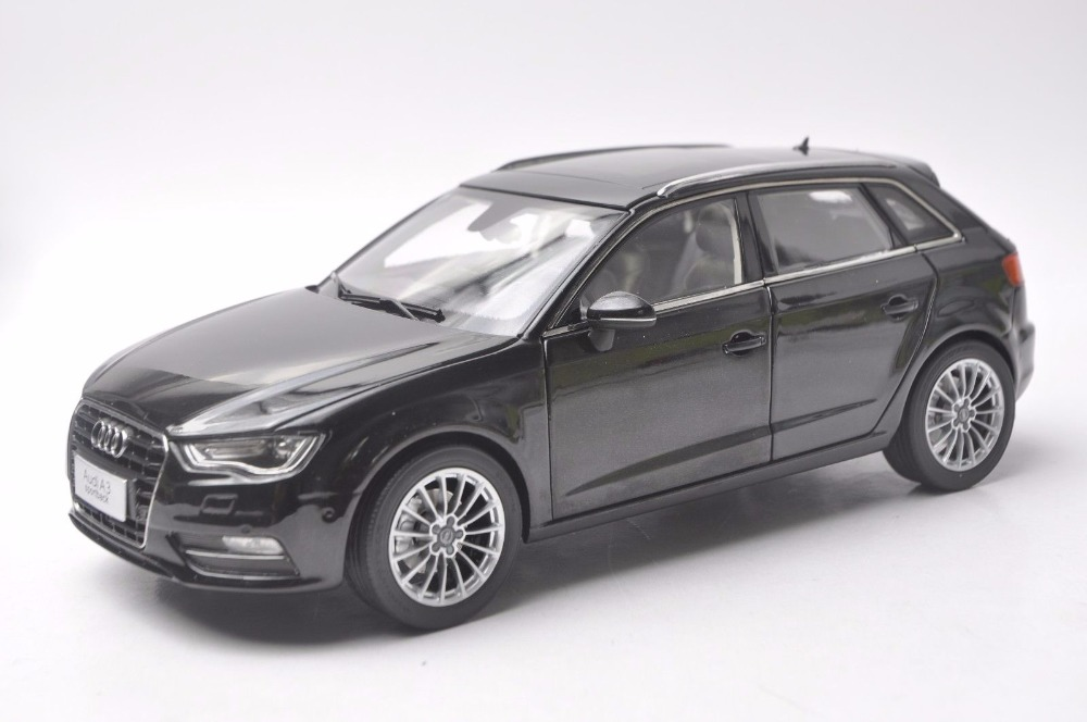 1:18 Diecast Model for <font><b>Audi</b></font> <font><b>A3</b></font> Sportback Black SUV Alloy <font><b>Toy</b></font> <font><b>Car</b></font> Miniature Collection Gift S3 image