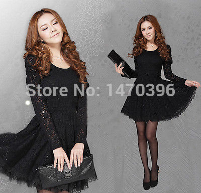 Lady Vintage Lace Long Sleeve Formal Cocktail Formal Dress Size 10 14 18-in  Dresses from Women s Clothing on Aliexpress.com  74acee11331d