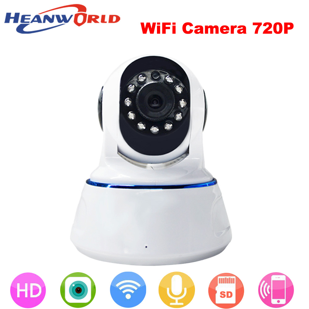 Heanworld 720P Wifi Camera Audio Pan/Tilt Security Camera 1.0MP Night Vision support SD Card Surveillance Network mini IP cam smart mini camera wifi support two way audio night vision sd card onvif motion detect camera with wifi for home security