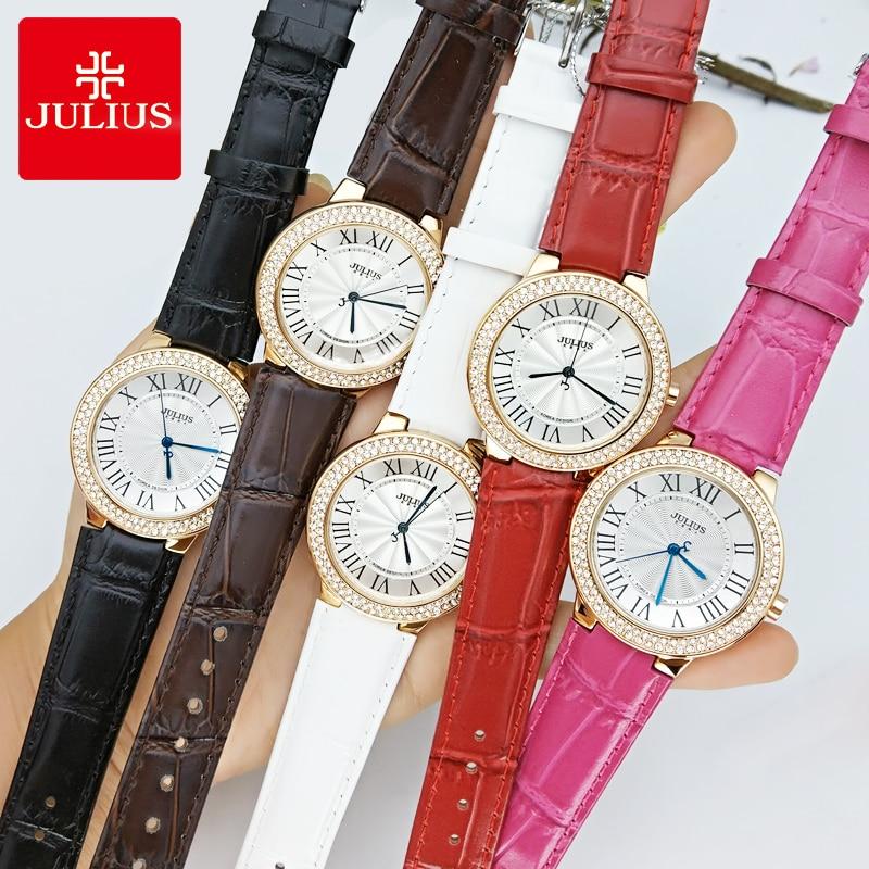 Top Julius Lady ženski ručni sat Poslovni Elegant Rhinestone Rim - Muški satovi