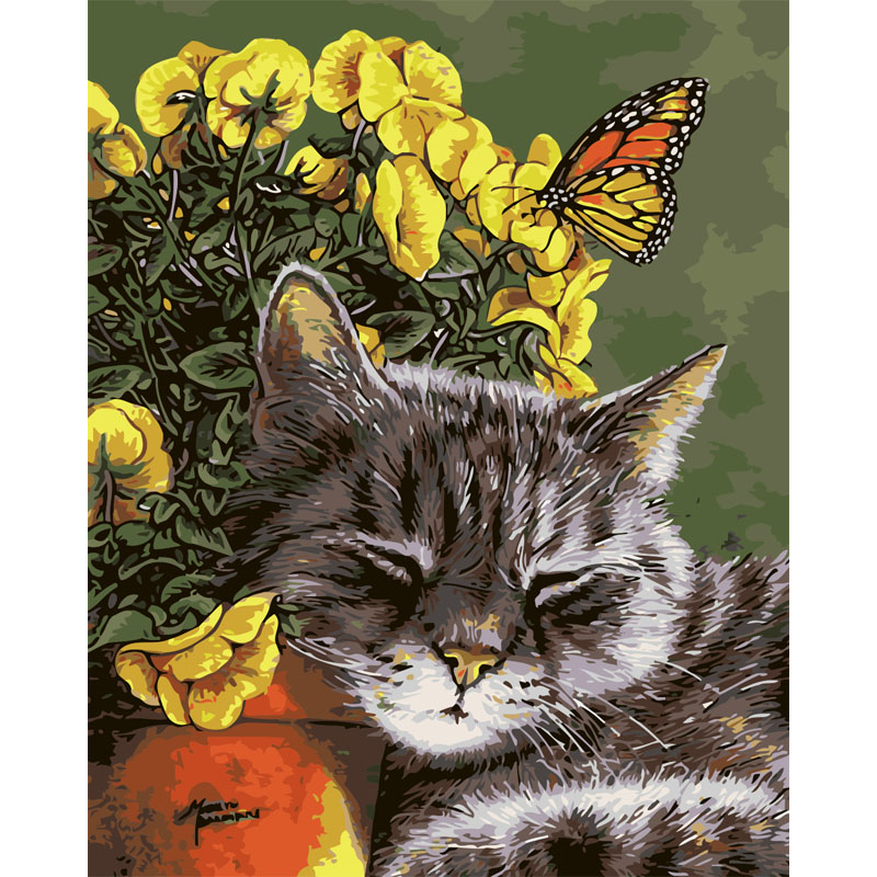 Картинки, кошки на открытке