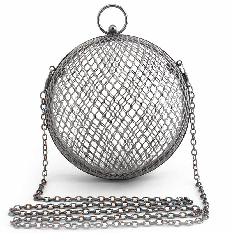 Bolsos de mujer de moda bolso de noche bolso bandolera bolsos de boda jaula geométrica playa bolso de Metal bolso con huecos