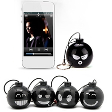 1 piece Funny expression Mini USB Phone speaker 3 5mm AUX cable stereo surround sound box