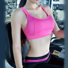 Ladies high quality sports bra with extra cushioning, summer fitness crop top, sexy gym workouts yoga wear running for women