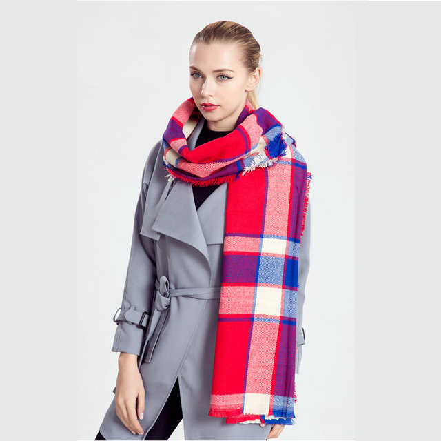 Luxus Marke Logo Frauen Karierten Schal Winter Plaid Ruana Schal Wrap Spanien Pashmina Plaid Lange Hijab Kostenloser Versand Canada YG545