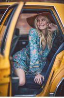 2016 Women Hippie Boho Calf Vestido De Festa Printed Beach Dashiki Dresses Sexy Vintage Hippie 3