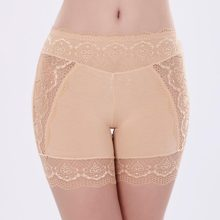 cead9c642a Female Summer Modal Safety Shorts Pants Large Size Low Waist Shorts Women  Ladies Lace Thigh Shorts