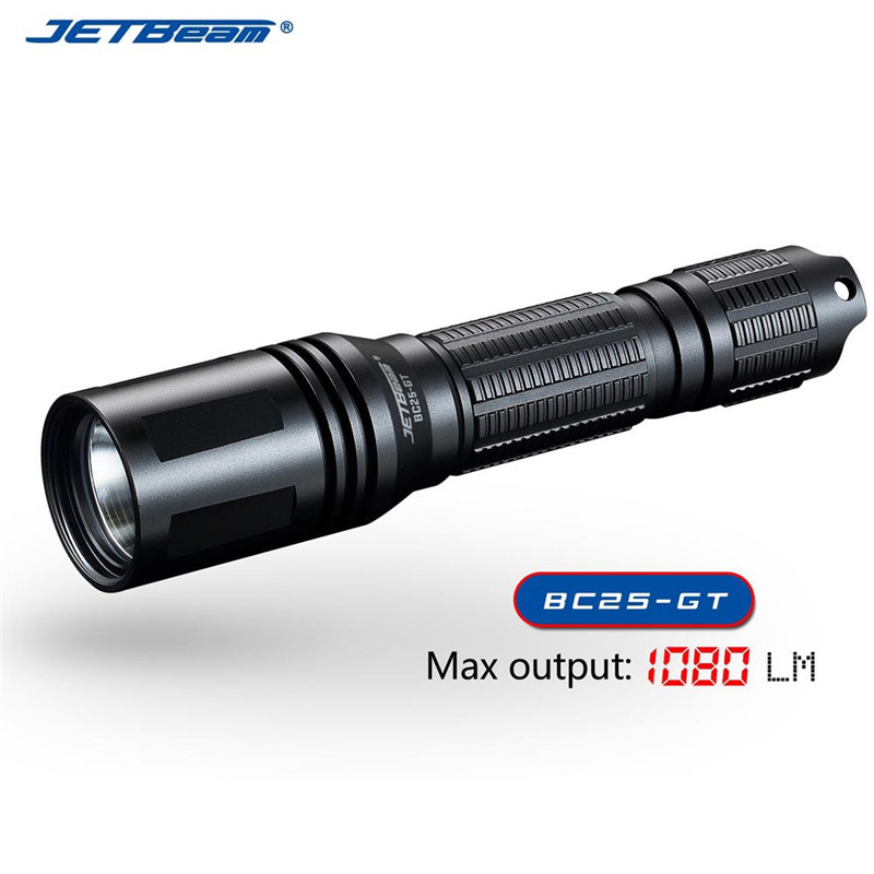 Jetbeam BC25GT Rechargeable CREE XP-L HI LED Flashlight 1080 Lumens Cycling Bicycle Bike Front Head Light Outdoor Camping skilhunt ds16 edc flashlight cree xp l led 500 lumens aa 14500 portable outdoor camping led light rechargeable torch lanterne