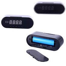1080 P H.264 настольные часы Камера сигнализации мини Камера ИК Ночное видение Wi-Fi IP часы Камера Mini DV DVR видеокамеры Wi-Fi Cam