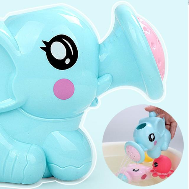 1PC Cute Baby Bath Elephant Toys Shower Kid's Water Tub Bathroom Playing Toy Gifts Hildren Bath Accessories 1