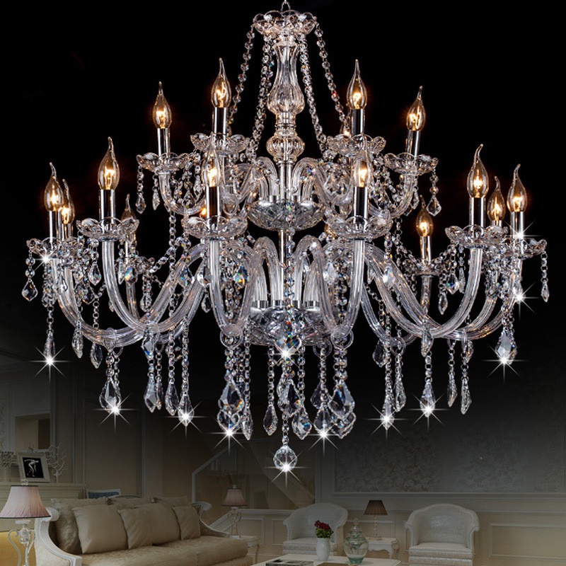 Modern Crystal Chandelier Lighting Luxury Clear Glass Chandeliers Lamp Suspended Light Lustres De Cristal Lamp Hotel Lighting  modern classic maria theresa crystal chandelier hanging lighting led lamp cristal glass chandeliers light for home hotel decor