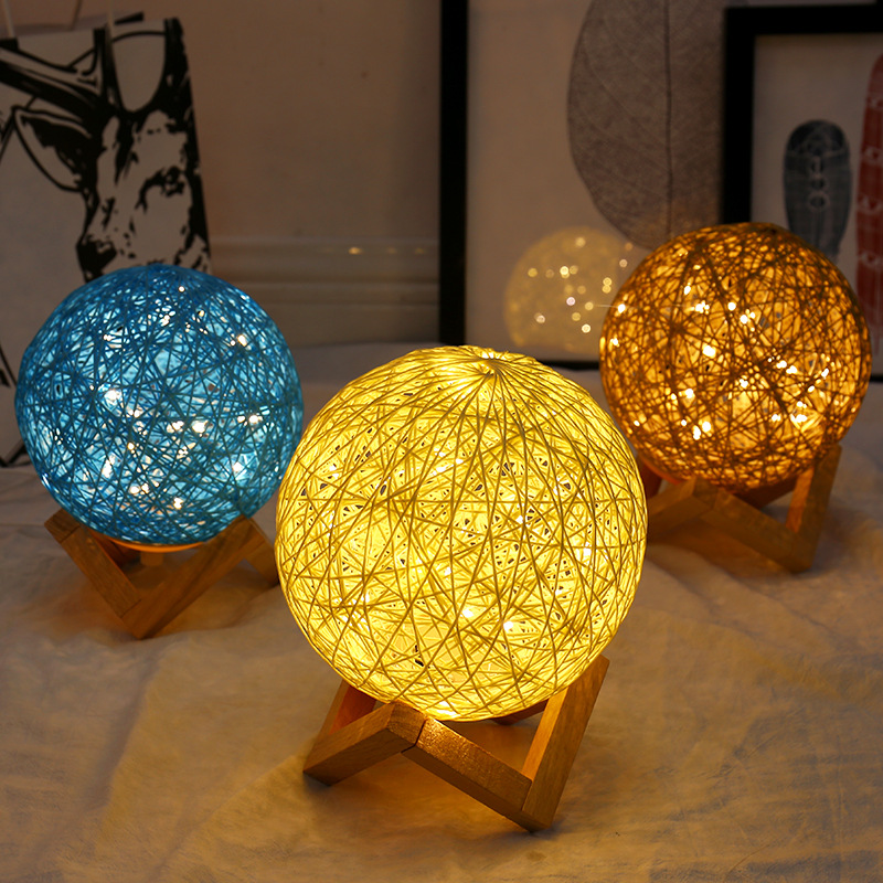 3D LED Night Light Rattan Moon light Romance Table Moon Lamp with Stand Colorful Lamp Party Home Decoration Ball Light String3D LED Night Light Rattan Moon light Romance Table Moon Lamp with Stand Colorful Lamp Party Home Decoration Ball Light String