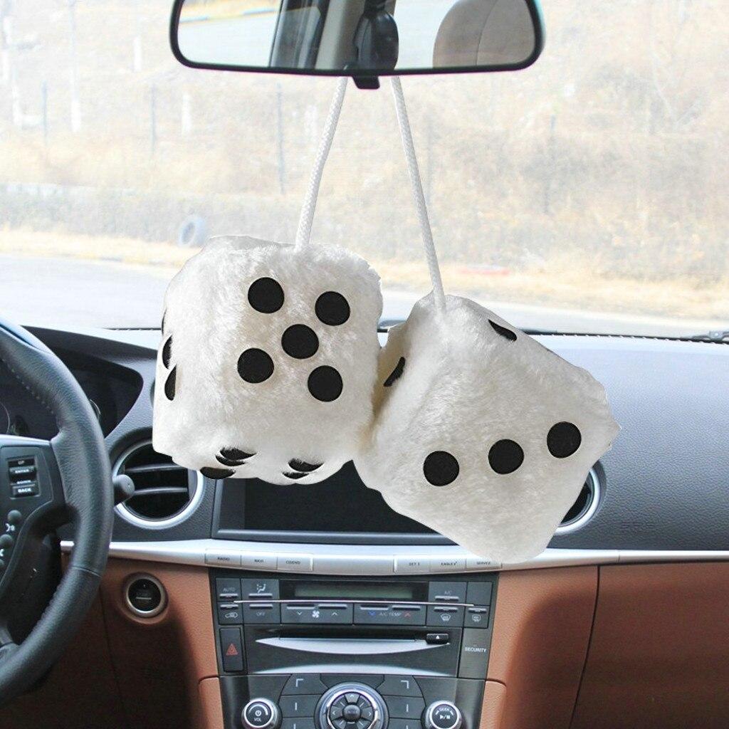 Франшиза, Автомобильные украшения, украшение, плюшевые кости, красочное зеркало, подвеска для автомобиля, подвесная подвеска, аксессуары для украшения дома - Название цвета: White
