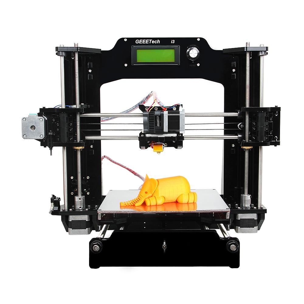 Geeetech Prusa I3-X imprimante 3D cadre acrylique complet nouvelle qualité améliorée haute précision Reprap Prusa bricolage Kits LCD gratuit