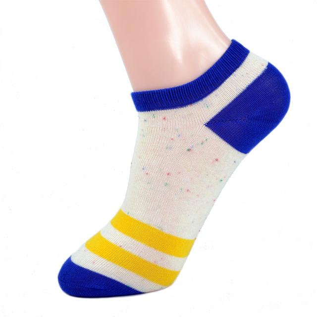 (5 Pares/lote) clássico Listrado Barco Meias de Algodão Mulheres 2017 Chegada Nova Costura Respirável Anti Sujo Ankle Socks 5 Cores