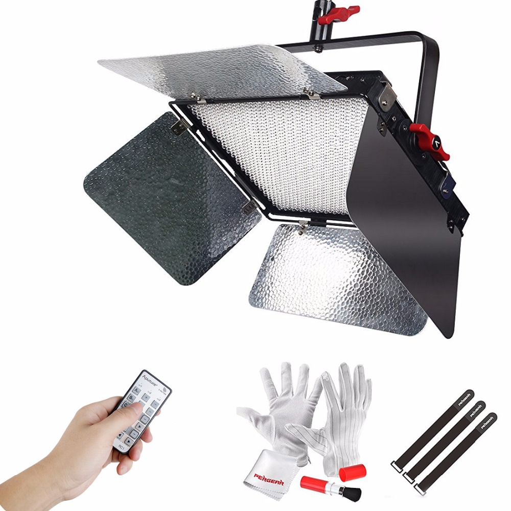 Aputure Light Storm LS 1c Studio 1536 Led Bi-Color Dimmable CRI95 Video Light Panel with Specially Designed Sturdy Metal Bracket