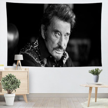 Johnny Hallyday Wall Hanging Tapestry Sheets Home Decorative Tapestries Beach Towel Yoga Mat Blanket Table Cloth