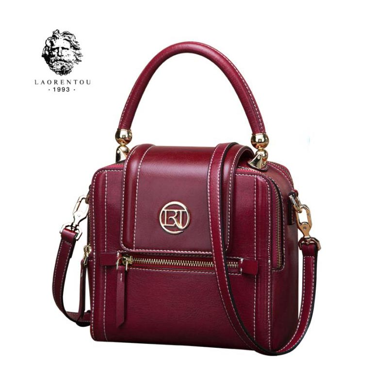 LAORENTOU high-quality fashion luxury brand 2018 new wild atmosphere Messenger bag retro fashion shoulder bag handbag genuine le 95 120usd popular high quality ba lovely retro fashion handbags messenger double back college bai le li 3 22