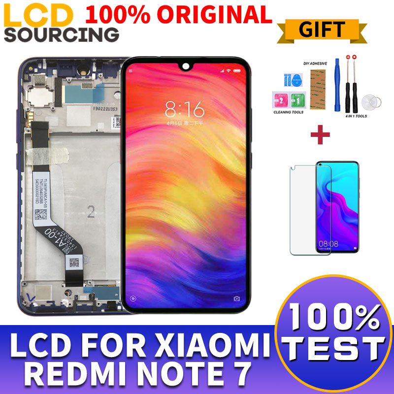 100% Original NEW 6.26 LCD For Xiaomi Redmi Note 7 LCD Display Touch Screen + frame Digitizer Assembly For Note 7 Pro Replace100% Original NEW 6.26 LCD For Xiaomi Redmi Note 7 LCD Display Touch Screen + frame Digitizer Assembly For Note 7 Pro Replace