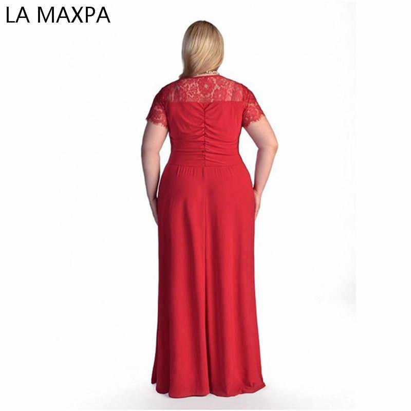 de2ccde57f2 ... Для женщин большой плюс размеры элегантные пикантные вечерние макси  длинные маленький черный Вечерние