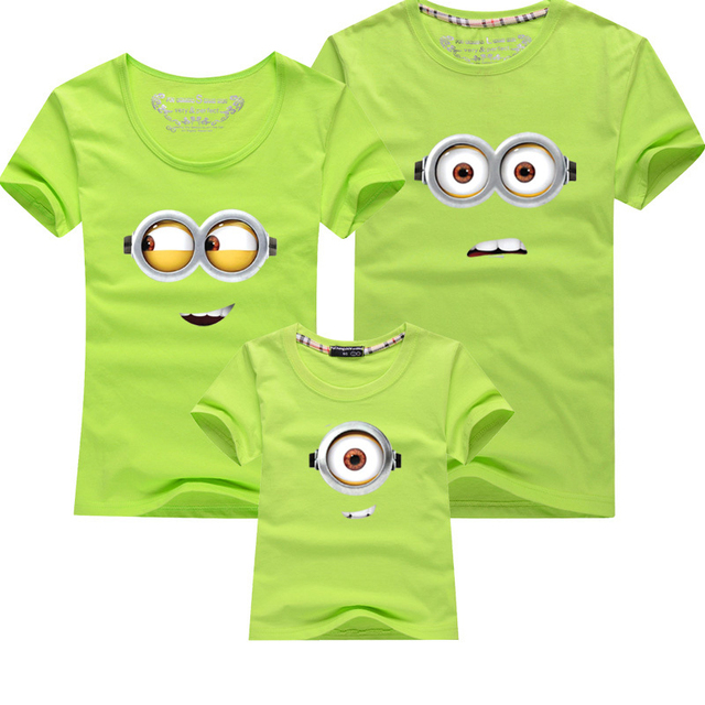 Despicable Me Minions Summer T-shirts for Family