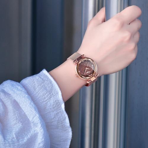 ONLYOU Elegant Women Watches Top Brand Luxury Ladies Wristwatch Rosegold Mesh Steel Jewelry Watch Female Clock Christmas Gifts Lahore